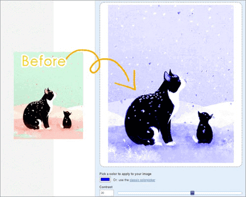 Many Tools can be used to change the color of the entire image instead of replacing a particular color in image.