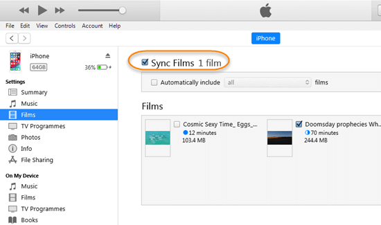 Here is how to use iTunes to transfer videos from PC to iPhone