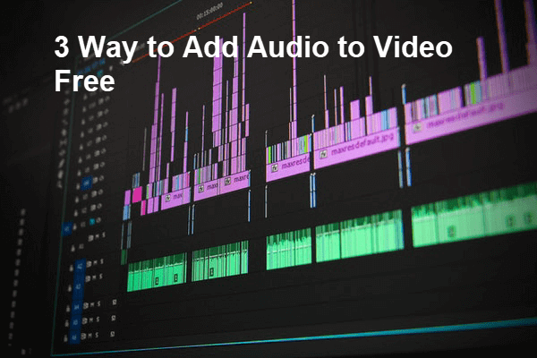 Add Audio and Music to Video