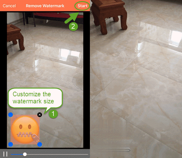 Video Eraser is an app that can remove watermark from video