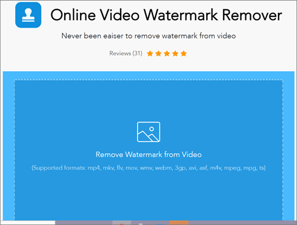 Apowersoft Watermark Remover is another online tool to remove watermark from video or photo on windows.