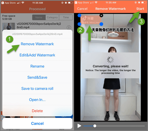 Video Eraser is a mobile app to remove, add and edit video watermark.