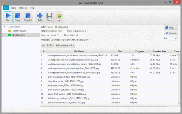 WFDownloader is a multi-purpose bulk image downloader available for Windows, Linux, and Mac.