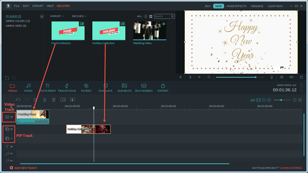 Filmora is another video editing tool to make a video play backward.