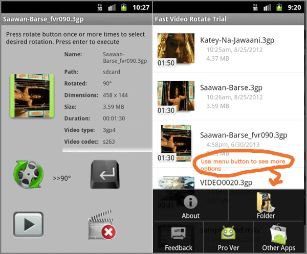 Fast Video Rotate is another great tool for you. As its name tells, its rotating speed is fast.