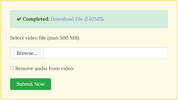 FileConverto is another online tool to make a video play in reverse.