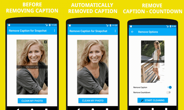 Snapchat Caption Remover App for Android