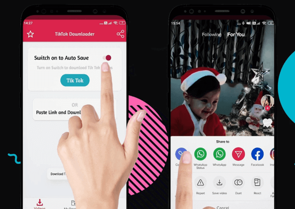 Video Downloader for TikTok is an app to freely download TikTok video without logo.