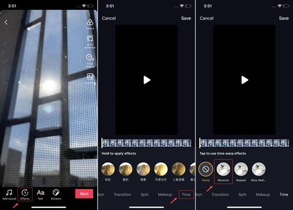 If the source video is created by yourself, simply import it to TikTok and follow the guide below: