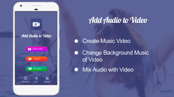 As one of the best apps for making music video on Android, Add Audio to Video allows you to change the audio of a video in all possible ways.