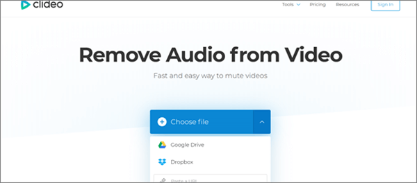 How to remove audio from video online?