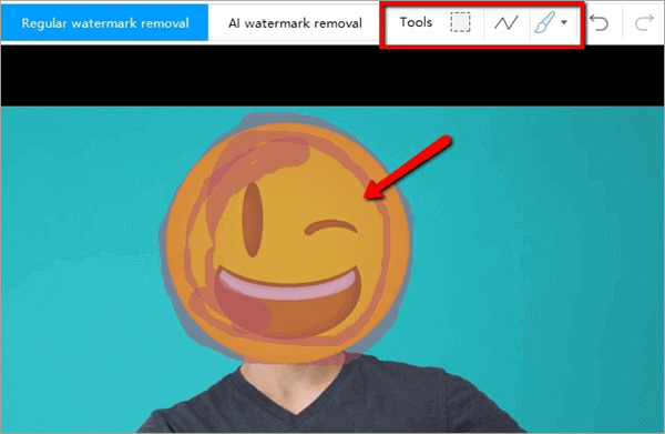 Follow this process if you want to remove smiley from picture by using Apowersoft Watermark Remover
