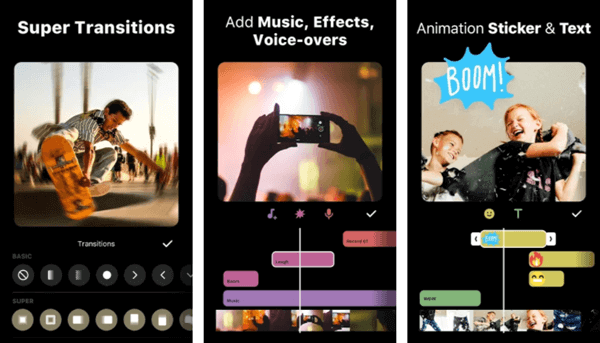 InShot is a powerful video making application with Vlog music and the video made is exported in HD quality.