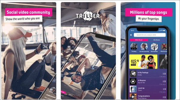 Triller is a popular music video creating app.
