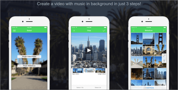 VideoSound is music video creating app for Instagram, Vine and Facebook..