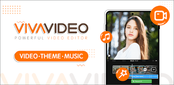 VivaVideo has a large free music library, from which you can pick up some to add on your video.