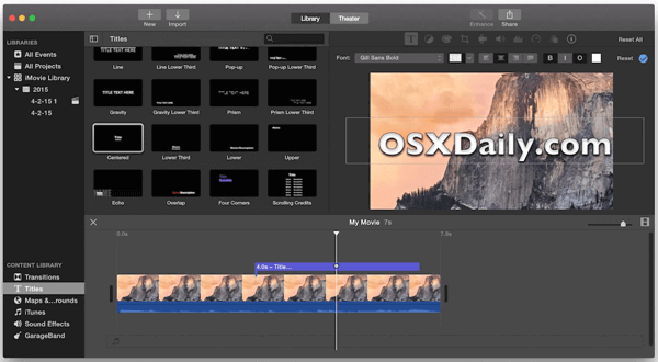 iMovie is a powerful video editing software launched by Apple.