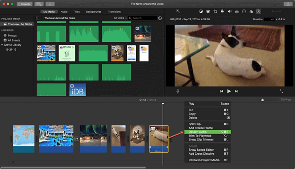 If your device is a Mac computer, iMovie is definitely the right one for remove audio from video on Mac.