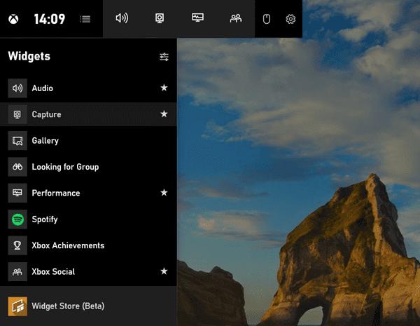Using the Game bar to Screenshot on Windows 10