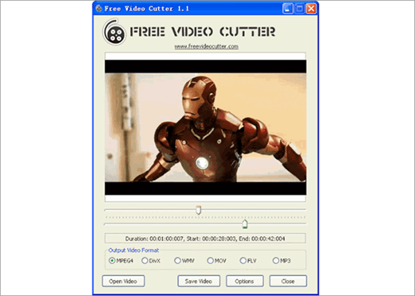 Free Video Cutter is another free video cutting software similar to Free Video Cutter Joine