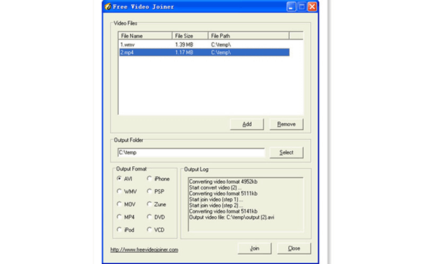 Free Video joiner is a piece of free software developed for the Windows operating system.