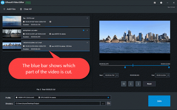 Jihosoft Video Editor is a free all-in-one video editing software that allows you to join any type of movie format easily.