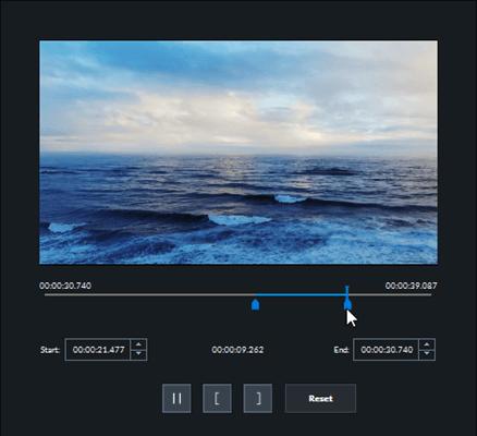 Cut and trim video clip