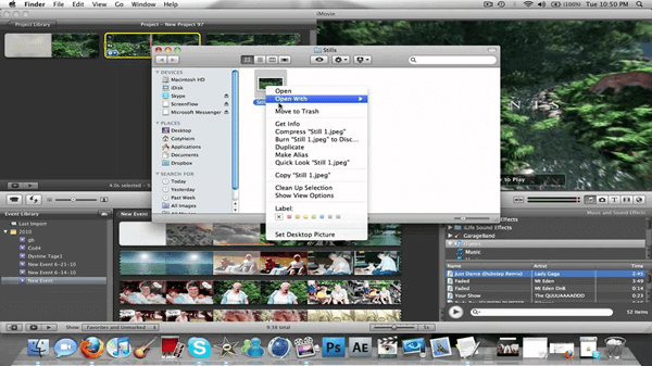 iMovie pretty much includes everything you need to create a short video.