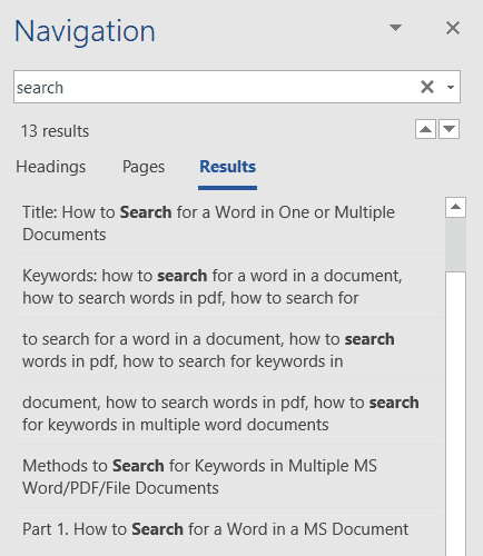 How to Search for a Word in a Word Document